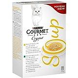 GOURMET Crystal Soup Recettes au Thon - 4x40g – Soupes en Sachets pour Chat Adulte - Lot DE 10
