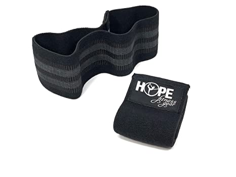 e0a2682699f0 Hope Fitness Gear Booty Band - Thick Fabric Resistance Band (Small, Black)