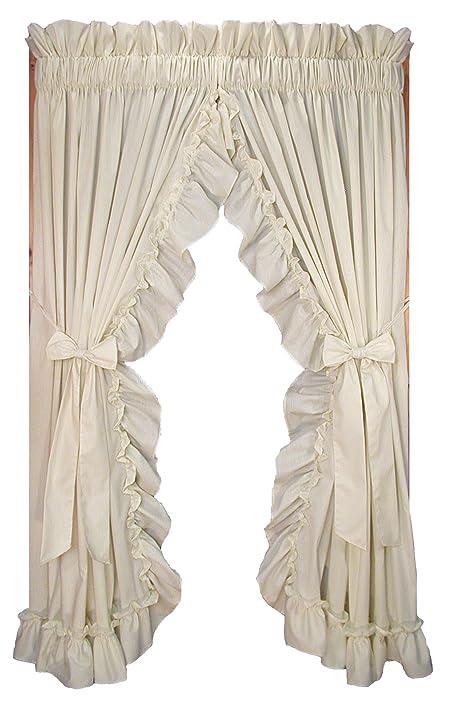 stephanie country style ruffle priscilla curtains pair