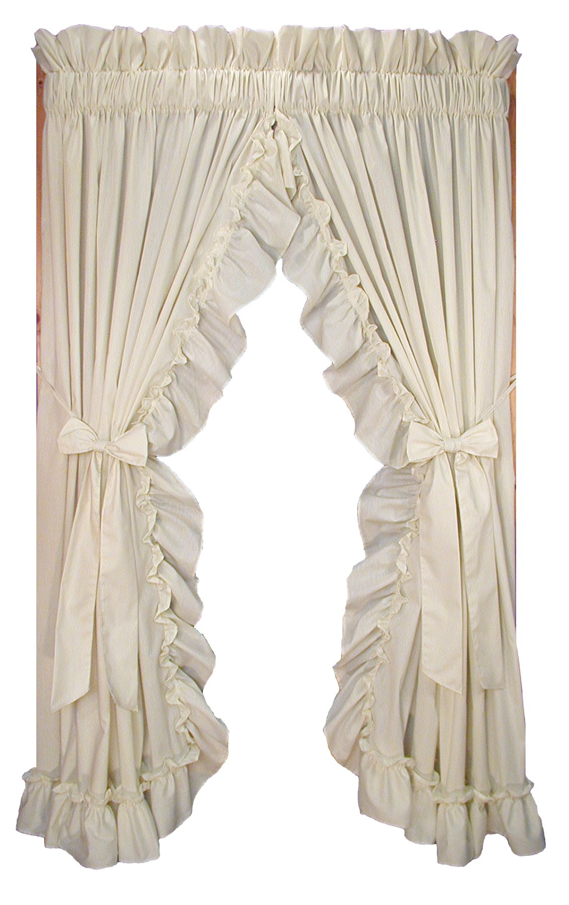 Bon Stephanie Country Style Ruffle Priscilla Curtains Pair 86 Inch By 84 Inch