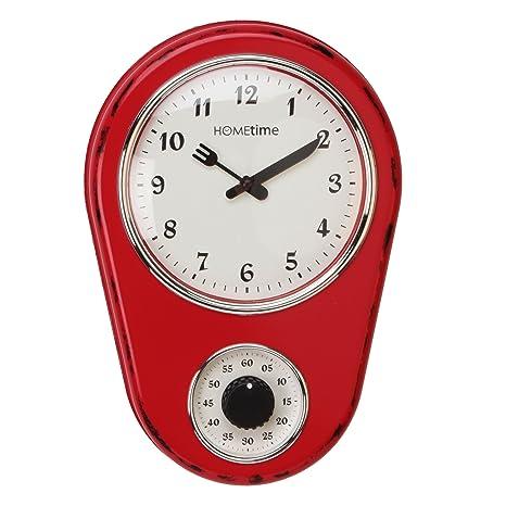 Vintage de reloj de pared para cocina con temporizador
