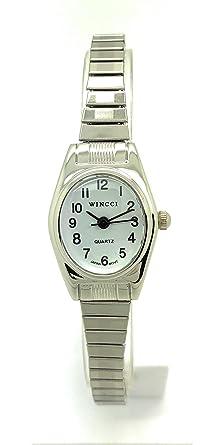 Amazon.com: Reloj clásico ovalado elástico para mujer: Watches