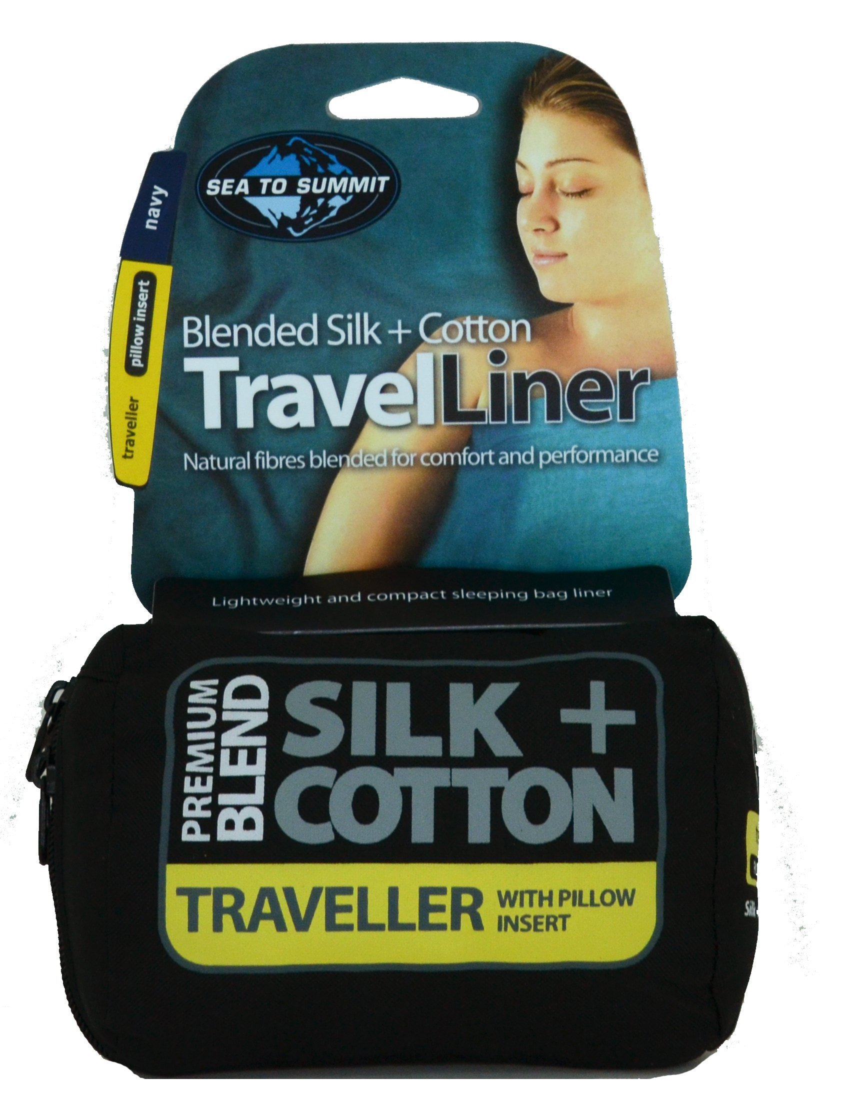 Sea to Summit Silk/Cotton Blend Travel Liner - Traveler with Pillow Inserts