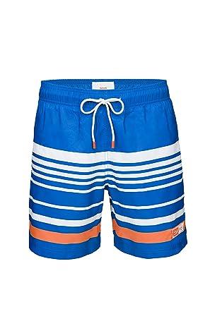 076d0a977a SWIMS Lucea Logo Men's Board Shorts Super-Light, Quick Drying Trunks In  Blitz Blue