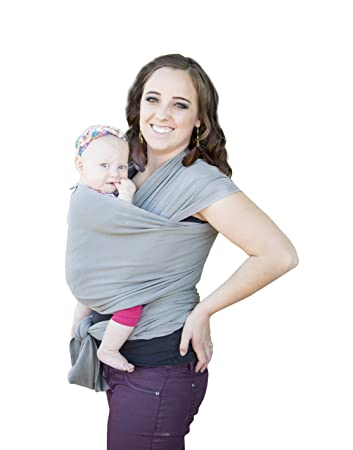 d1736ef3d MINI OBJEX Soft and Luxurious Baby Carrier Sling Wrap-Grey- Best Baby Gift-