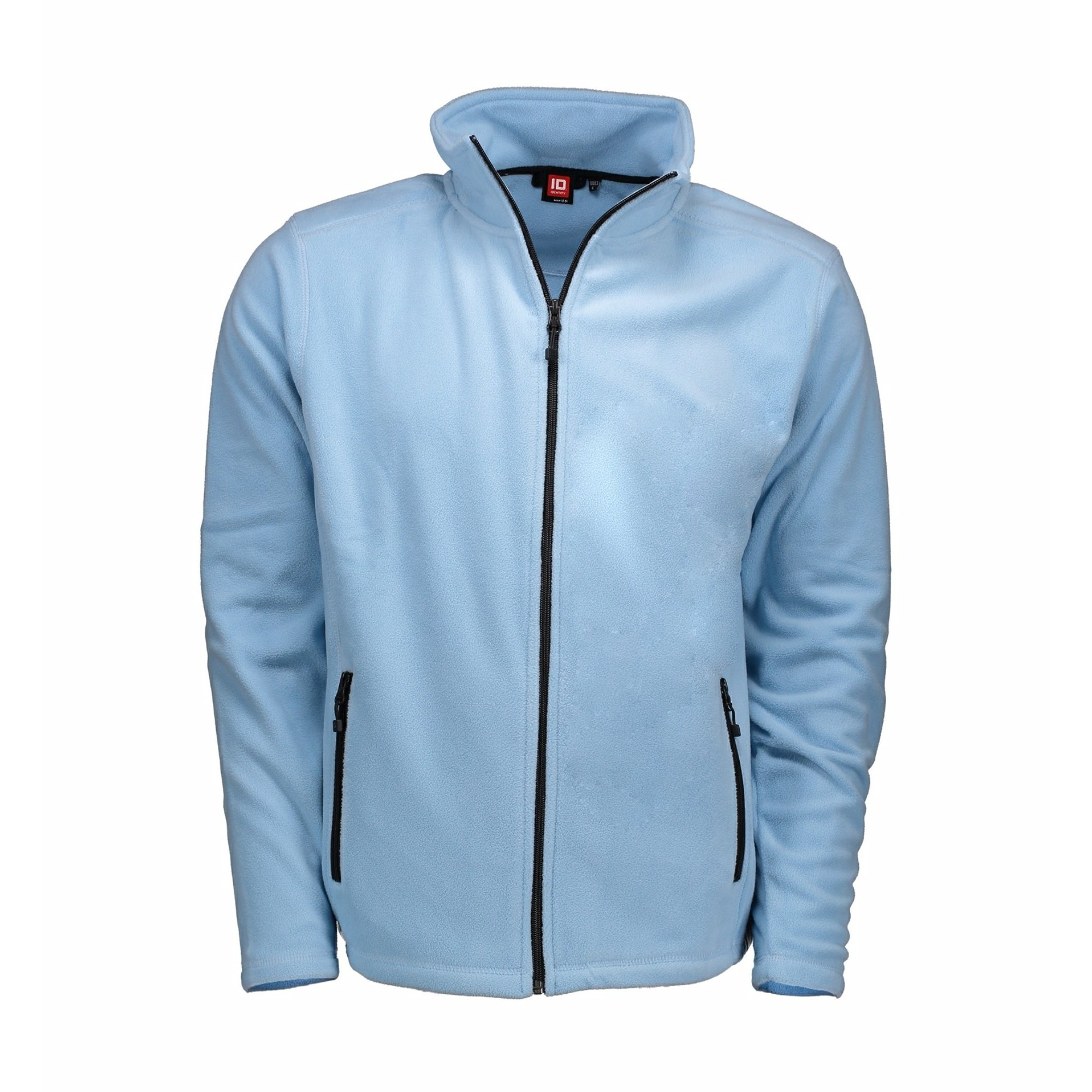 ID Mens Microfleece Full Zip Cardigan (2XL) (Light Blue)
