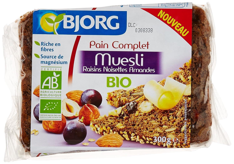 Bjorg Pain Bio Complet Muesli Raisin Noisettes Amandes 300 g 3229820789842