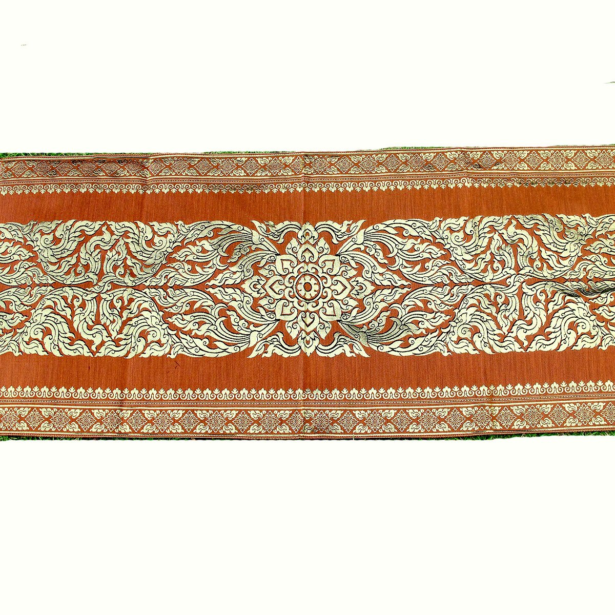 Danai Presents.LOVELY FLORA FOR KING SIZE BED BEAUTIFUL BED RUNNER WIDTH 19 IMCHES LONG 80 INCHES by Thai