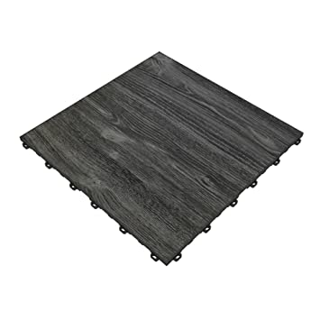 Swisstrax Black Oak Vinyltrax Garage Floor Tile 1575quot