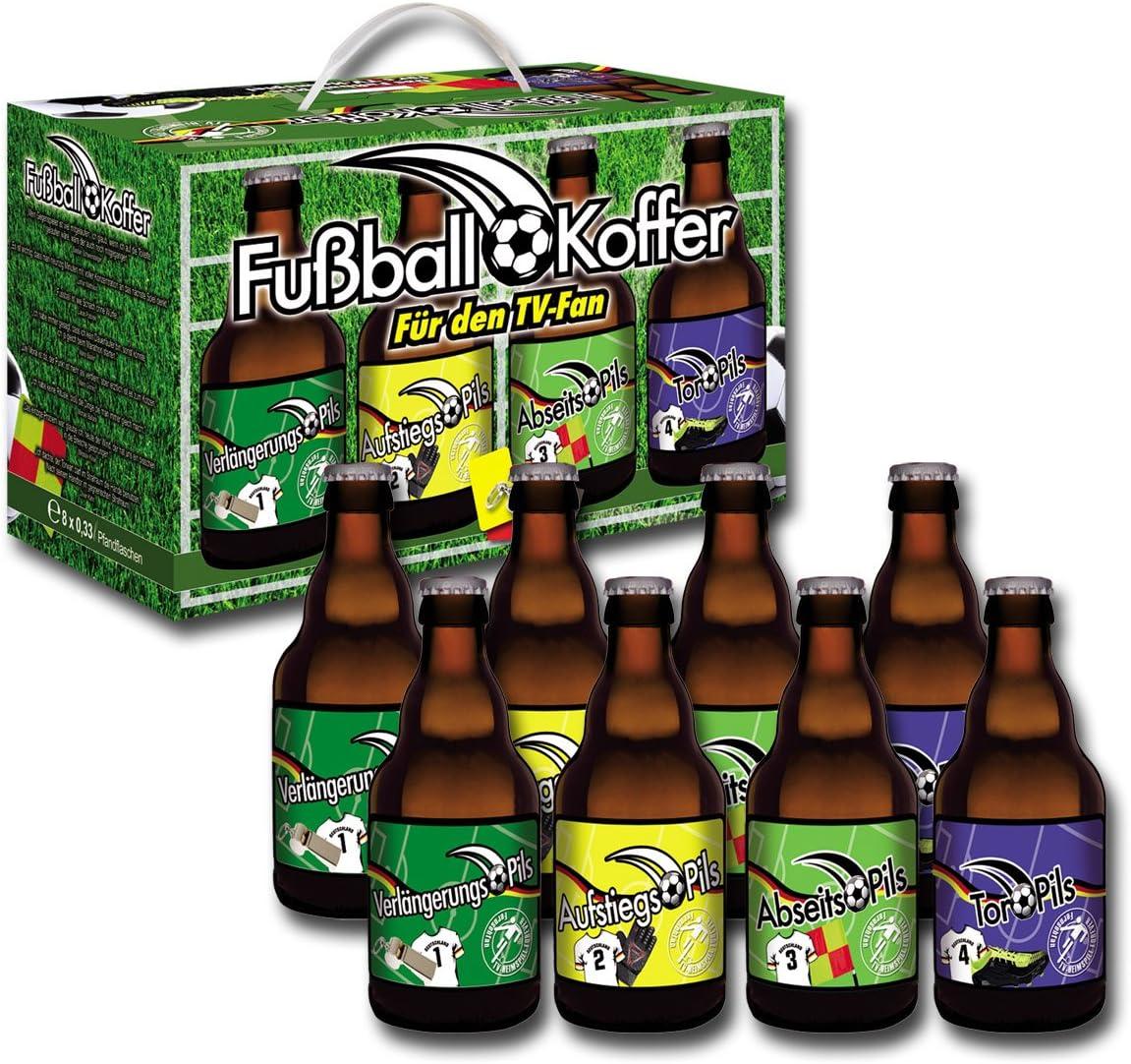 Cerveza y más de fútbol cerveza Regalos Caja (8 x 0.33 l): Amazon.es: Alimentación y bebidas