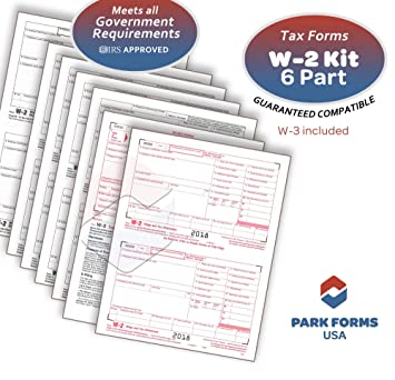 Amazon Com 2018 Laser Tax Forms W 2 Income 6 Part Set For 25