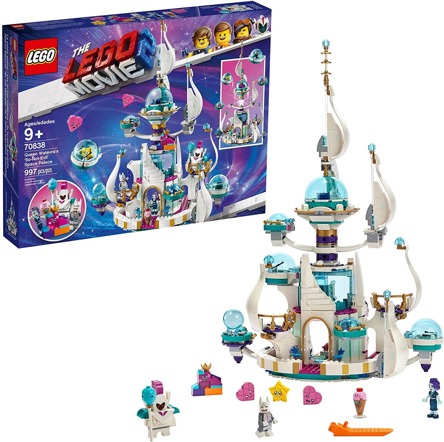 Amazon Com Lego The Lego Movie 2 Queen Watevra S So Not Evil Space Palace 70838 Building Kit 995 Pieces Toys Games