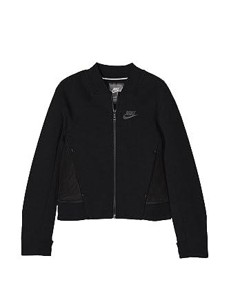 407fd988ca2f7 Amazon.com: Nike Girl's Tech Fleece Bomber Jacket Black 728413 010 ...
