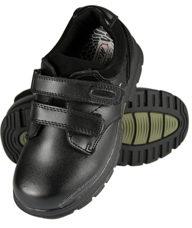 15dfaa09aa2b Schuhe für Jungen Kleidung   Accessoires Kids Boys macadam Alfie Black  leather school shoes JR 8 UK2