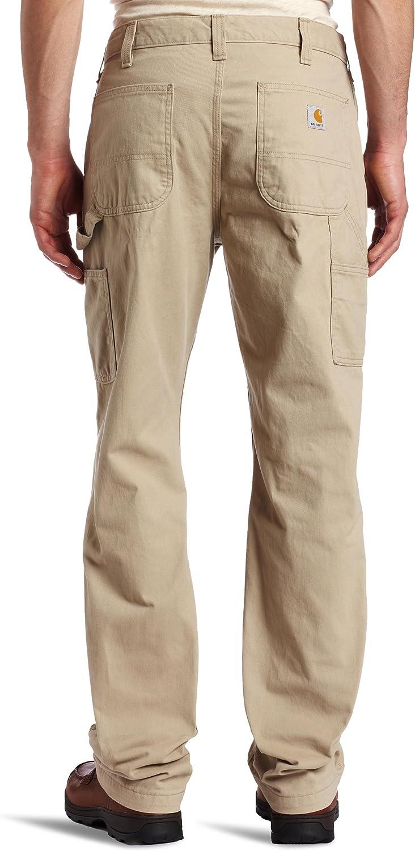 Carhartt Salopette Pantalon Coupe d/écontract/ée en serg/é d/élav/é pour Hommes
