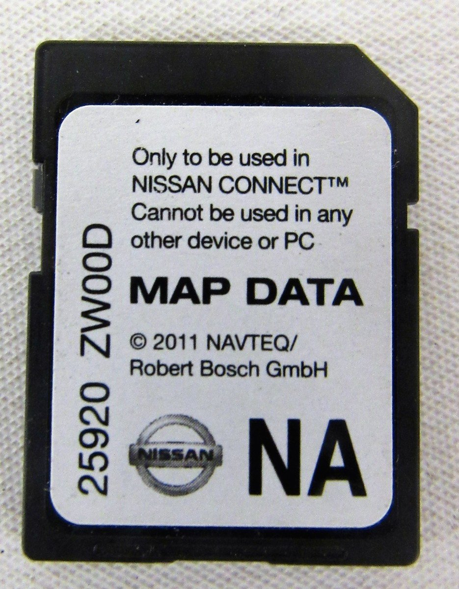 ZW00D 10-11-12-13 NISSAN CONNECT SD CARD , NAVIGATION GPS MAP DATA , NAVTEQ , NA/NORTH AMERICA US-CANADA 25920 ZWOOD ,For2010 2011 2012 2013 ROGUE ...