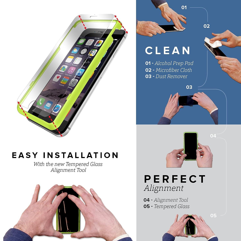 Funda iPhone 5 SE 5s, SaharaCase® de protection Kit Bundle [Protector de pantalla ZeroDamage® en Vidrio Templado] Acabado de primera calidad [renforcé ...