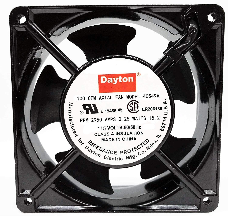 for Dayton 100 CFM AXIAL Fan Model 4C549A 115V 0.24A 12038 Cooling Fan