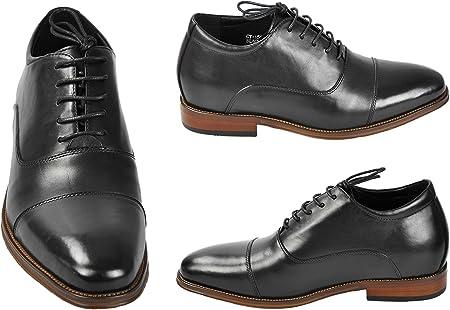 ZERIMAR Zapatos con Alzas Interiores para Caballeros Aumento 7 cm   Zapatos de Hombre con Alzas Que Aumentan su Altura   Zapatos Elegantes para Hombre