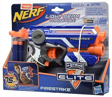 NERF Fire Strike Firestrike Elite with Ammo Blue White Single Shot Blaster