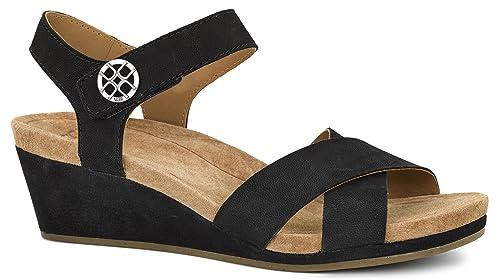 Sandals UGG Women's Lilah Wedge Sandal, Black, 8 M US
