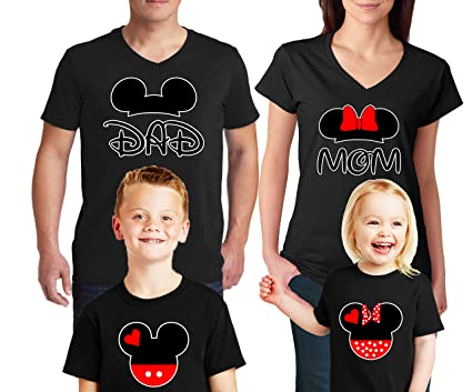 7e200d21b2a4 Natural Underwear Family Trip #2 Mickey Mouse Minnie Mouse Ears Cotton Mom  Dad Family T