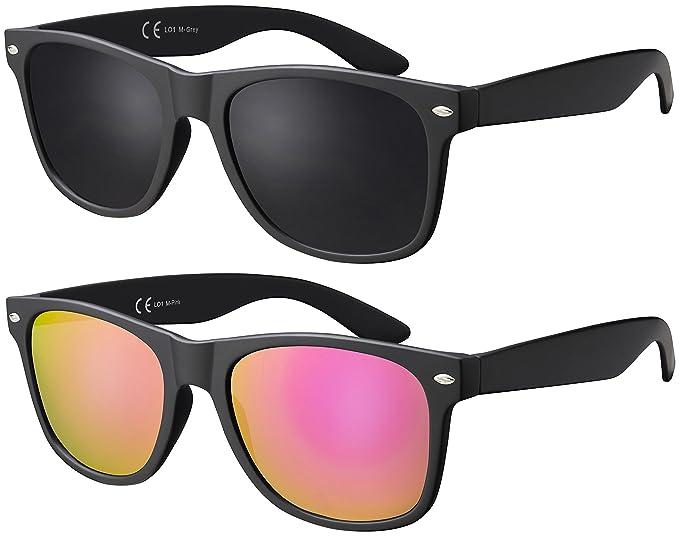 La Optica - Gafas de sol - - para mujer rosa Doppelpack Matt ...