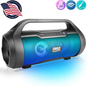 "Wireless Portable Bluetooth Boombox Speaker - 500W 2.0CH Rechargeable Boom Box Speaker Portable Barrel Loud Stereo System with AUX Input/USB/SD/Fm Radio, 3"" Subwoofer, Voice Control - Pyle PBMWP185"