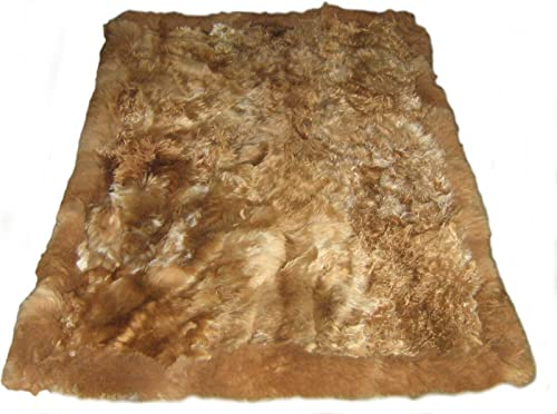 Alpakaandmore Original Andean Babyalpaca Fur Rug Brown Handmade 90 x 60 cm 2 95 x 1 97 ft