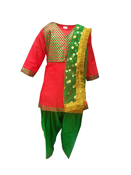 amazon com punjabi girl fancy dress for kids indian state