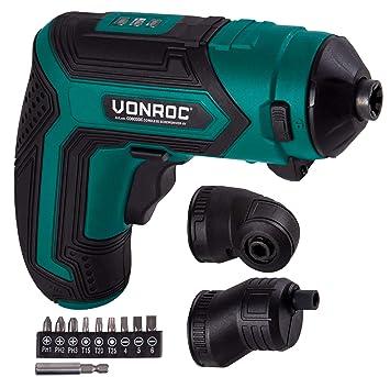 VONROC - Taladro atornillador inalámbrico (4 V, con soporte ...