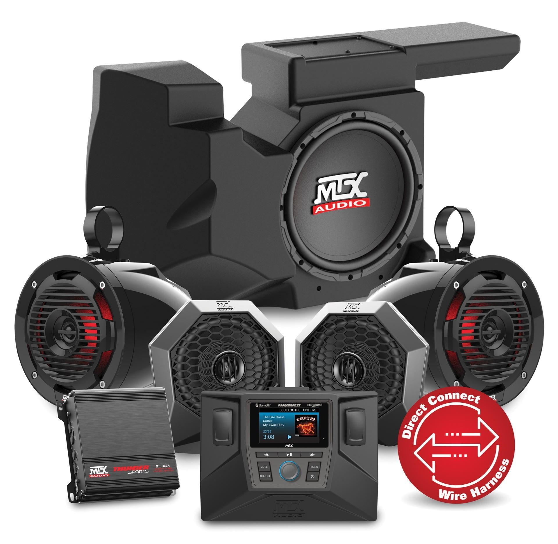 MTX Audio 2014-2018 Polaris RZR XP 1000 Four Speaker, Dual Amplifier, And Single Subwoofer Audio System by RZRSYSTEM3