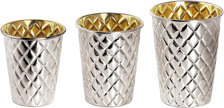 Made of Heavy Silver-Plated Brass Height 3.5 in Diamond Pattern Edzard Mint Julep Cup Pilar