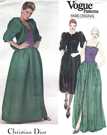 Amazon Vogue Vintage Sewing Pattern 2834 Christian Dior Ball