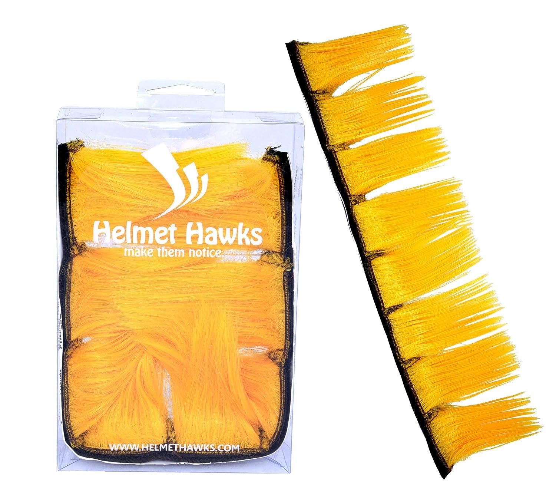 Deep Ocean Blue 8 Ski or Snowboard Helmet Mohawk w//Sticky Hook and Loop Fastener Adhesive Helmet Hawks Motorcycle Hair Patches 2 long x 6 Tall