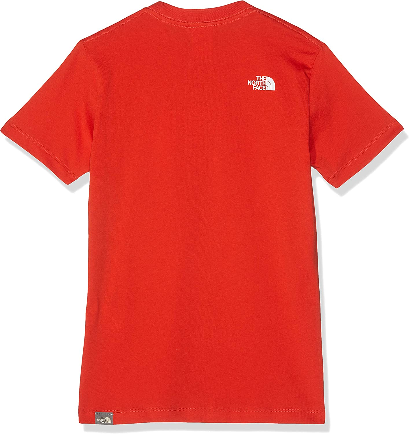 Maglietta Unisex Bambini L Fiery Red//TNF White Rosso The North Face Easy Tee