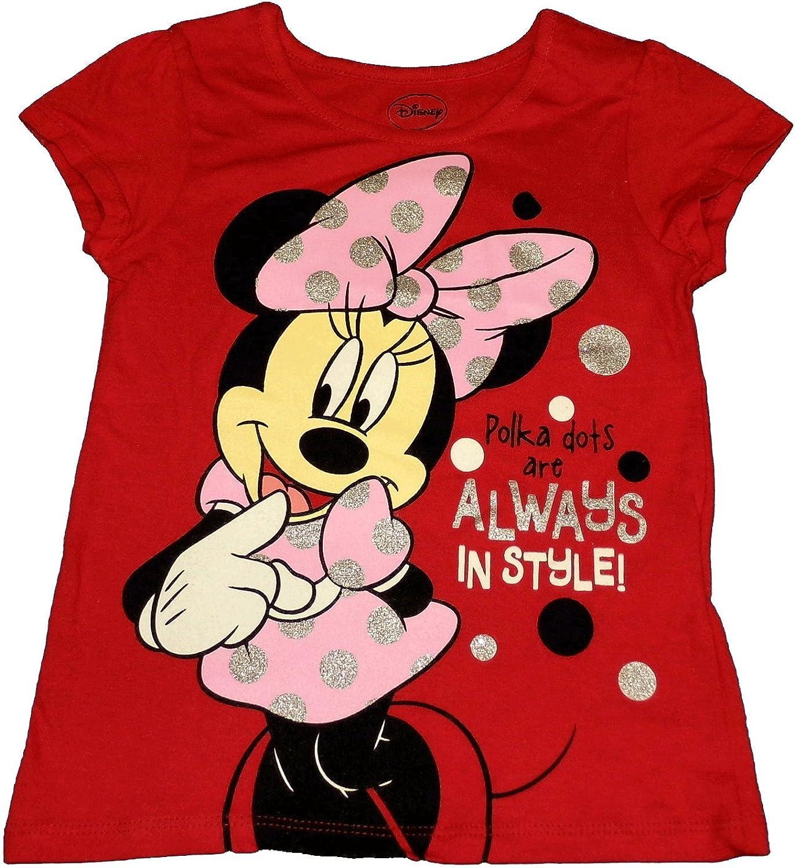 Disney Little Girls Minnie Mouse Short Sleeve Tee Shirt