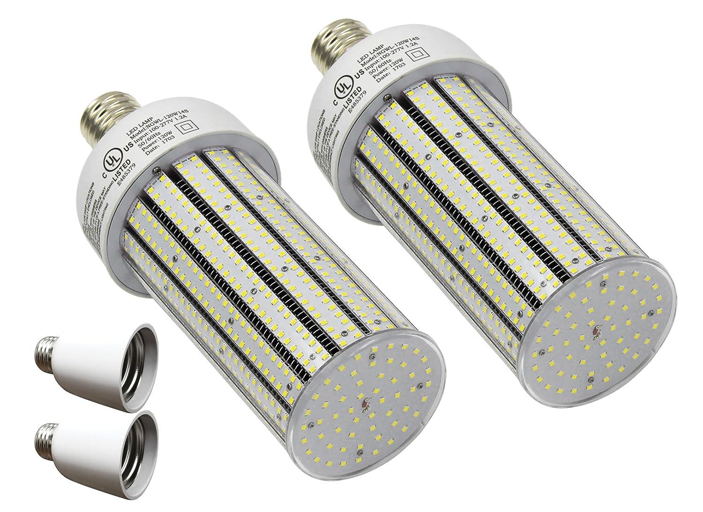 Qty 2 cc120 – 39 + 2アダプタLED高ベイスポーツArena Post LEDライトe39 6500 Kホワイト120 W ( 720 Wに相当) B077BLDSKW