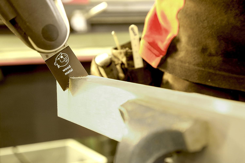 Mit Bi Metall Universalverzahnung und Multifunktionsaufnahme + Das Profi-Zubeh/ör f/ür Ihr oszillierendes Multifunktionswerkzeug passend f/& preisg/ünstige Markenqualit/ät 3 E-Cut S/ägebl/ätter MUB 028 long-life Universal 28 mm