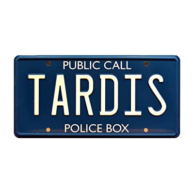 Celebrity Machines Doctor Who | Tardis | Metal Stamped License Plate: Automotive