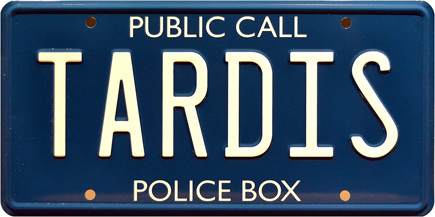 Celebrity Machines Doctor Who | Tardis | Metal Stamped License Plate