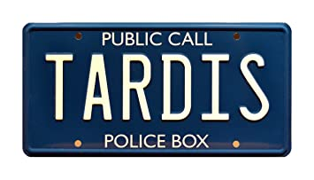 doctor who tardis metal stamped standard usa size license plate - Doctor Who License Plate Frame