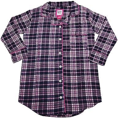 a4c755c9ca B O P J Ladies Long Sleeve Flannel Sleep Shirt at Amazon Women s ...