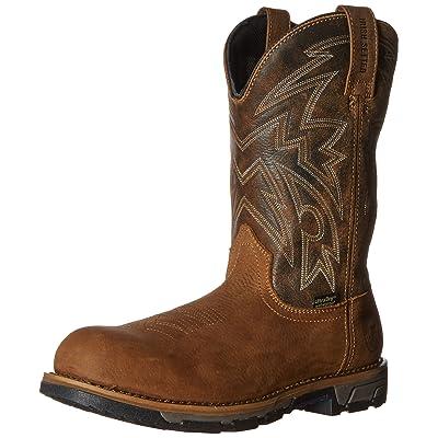 "Irish Setter Work Men's Marshall 11"" Waterproof Pull-On Steel Toe Work boot, Brown, 13 2E US: Shoes"
