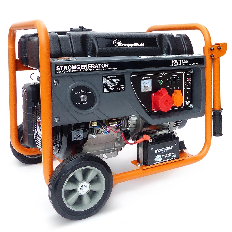 Generador eléctrico Knapp Wulf KW7300 trifásico de gasolina: Amazon.es: Bricolaje y herramientas