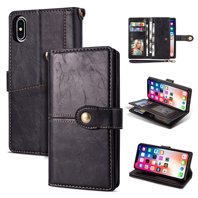 quality design 8e0ef 47799 Black Friday Deals Cyber Monday Deals-iPhone Xs Max Case iPhone Xs Max  Wallet Case,Flip Leather Credit Card Holder Cash Pockets Wristlet  Protective ...