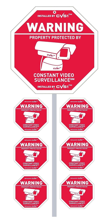 Amazon.com: Estaca para cámara de seguridad CCTV con señal y ...
