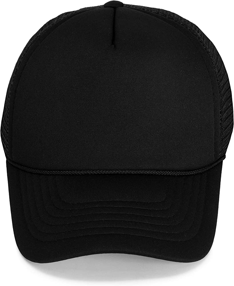 Junior Kids Childs Vintage Adjustable Padded Baseball Snapback Trucker Cap Hat