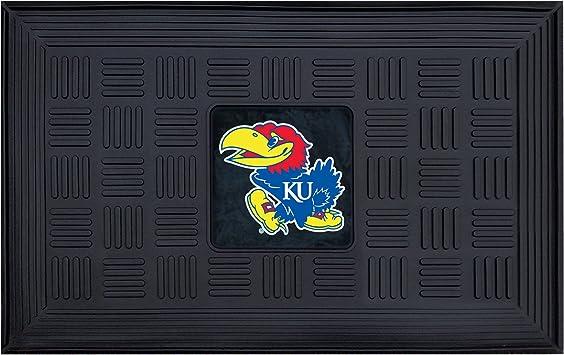 Multicolor University of Kansas Embossed Door Mat Team Sports America 41EM996