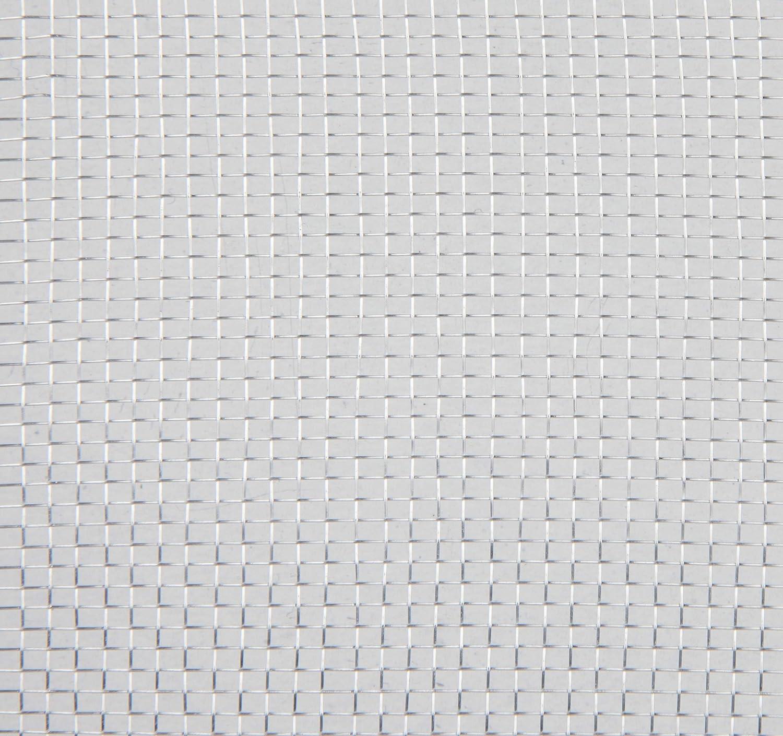 alu naturel Windhager Tulle Moustiquaire Aluminium 03623 120 x 250 cm Toile de moustiquaire robuste en aluminium pour portes et fen/êtres